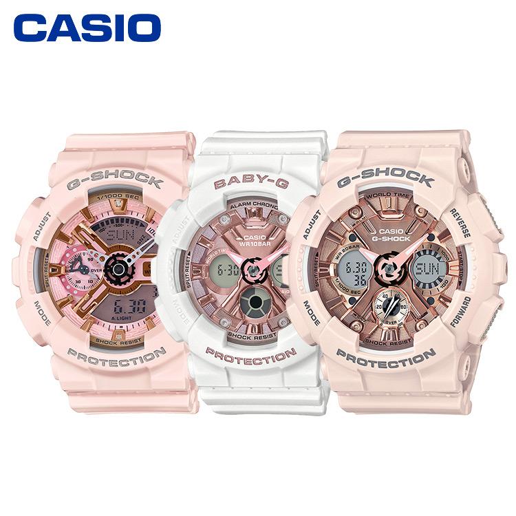 CASIO卡西欧时尚运动女表GMA-S110系列、GMA-S120系列、GMA-B800系列、BA-130系列、GMA-S130系列