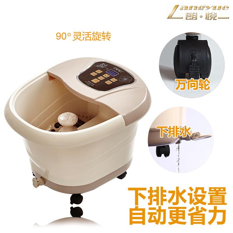 朗悦 LY-819足浴盆全自动滚轮按摩洗脚盆加热足浴器泡脚盆 棕色 470*385*410mm