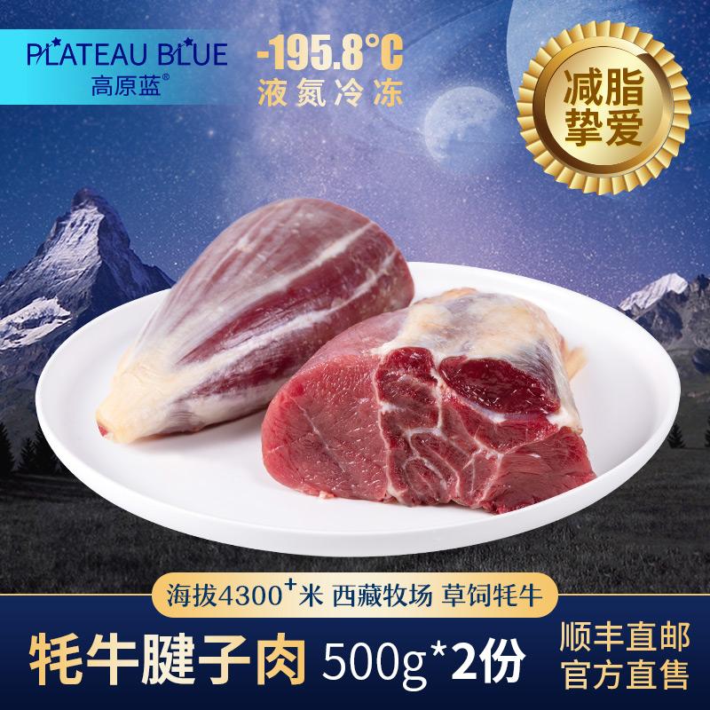 西藏申扎县高原蓝新鲜牦牛腱子肉500g*2份