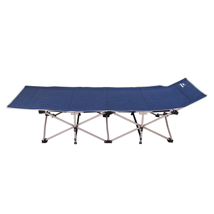 领路者 lz-3010 折叠床单人床 折叠行军床 户外沙滩床 蓝色带垫
