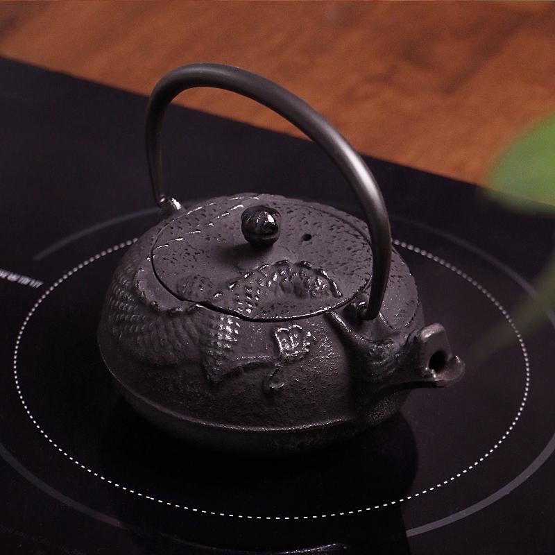 MINOYAKI美濃燒日本進口南部寶鐵鐵壺茶壺泡茶壺收藏版0.3L