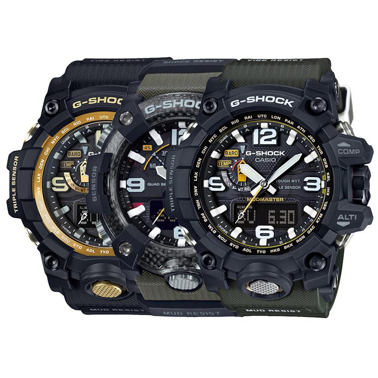 CASIO卡西歐GWG-1000、GG-B100、GG-1000系列多功能戶外運動手表男表