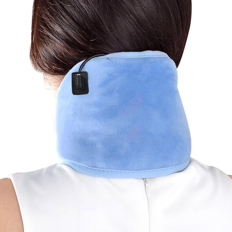 港德(SUNWTR)电热护颈艾灸热敷颈椎保暖热敷垫电热艾灸护膝 电热艾灸护腰 蓝色