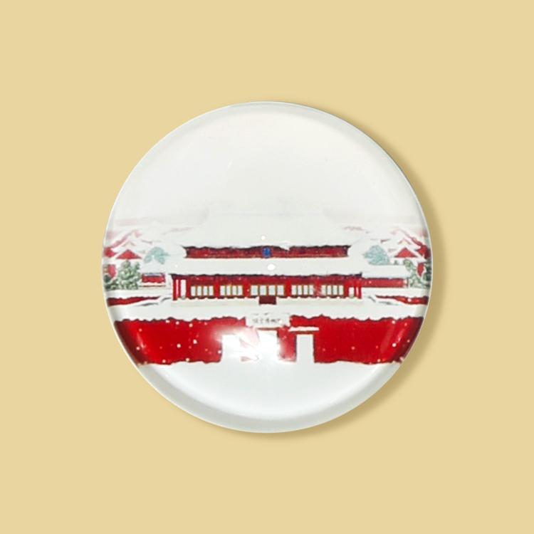 宮廷紋飾冰箱貼-紫禁城雪慕