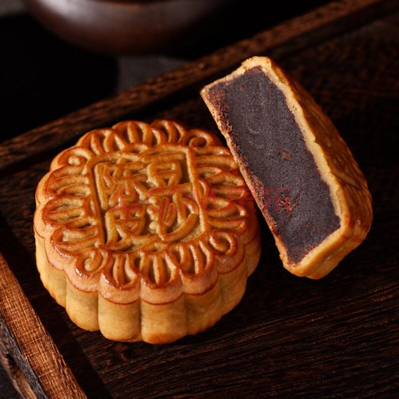 澳门香香 金尊 陈皮豆沙味 广式月饼散装 132g 休闲零食饼干点心早餐小吃,金尊