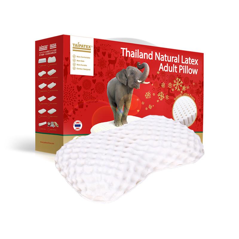 """泰国原装进口TAIPATEX天然乳胶""""皇室美容枕 60*34*10 cm"""