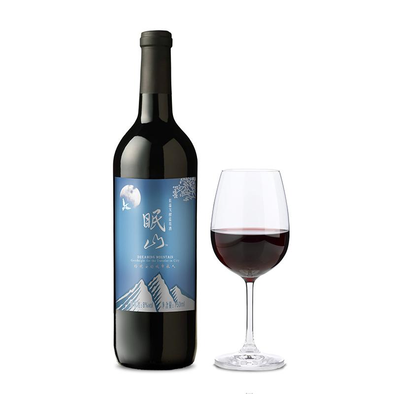 眠山低温发酵蓝莓酒750ml 来自大兴安岭的野生蓝莓红酒
