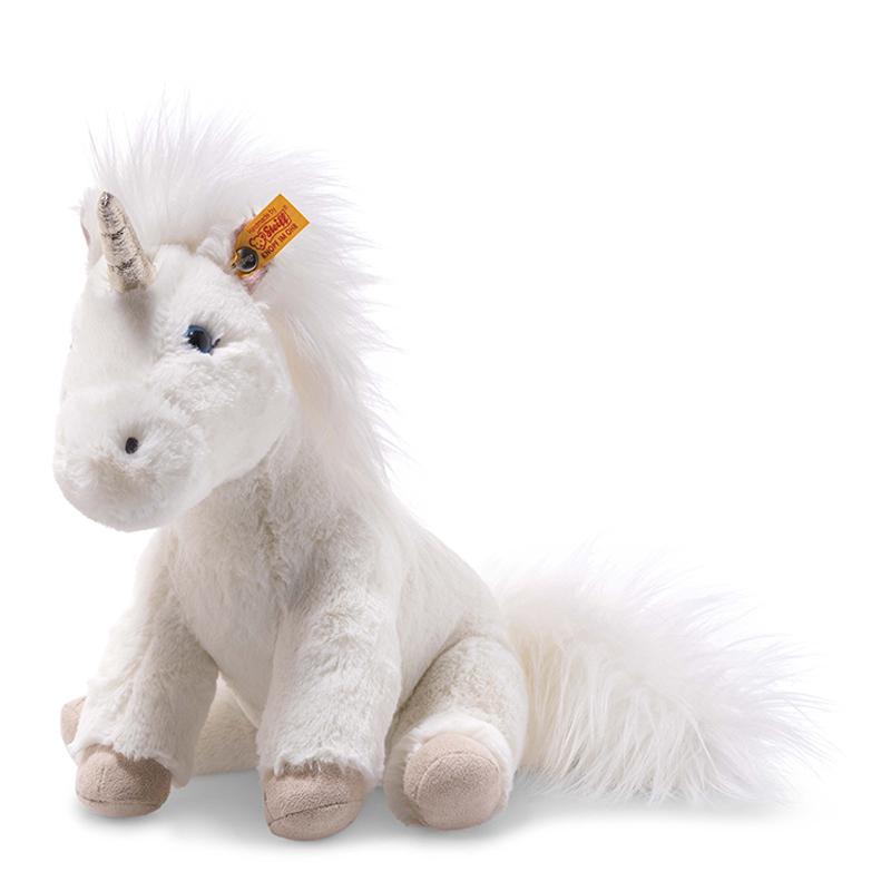 德国Steiff毛绒玩具Unica独角兽白色 25cm 4001505087752
