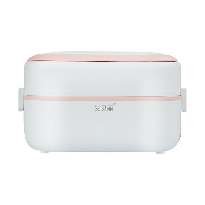 艾贝丽电热饭盒RW-03 不锈钢内胆可插电保温加热煮蒸饭神器上班族学生宿舍便携式便当盒