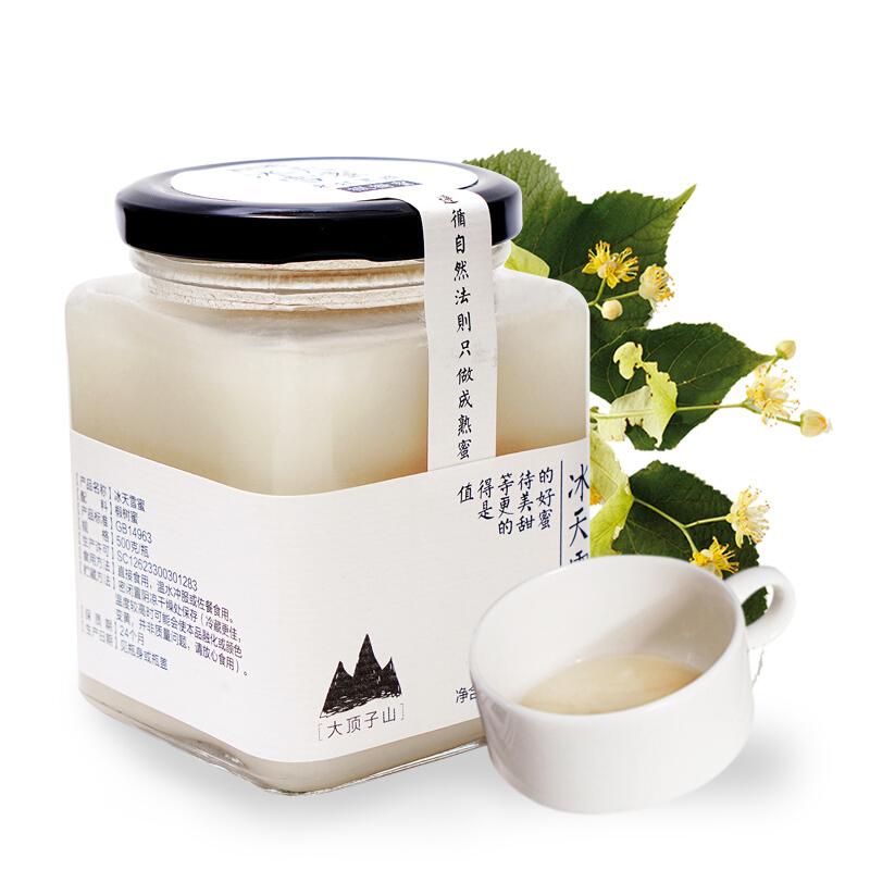 北大荒 东北黑蜂 冰天雪蜜 椴树成熟蜜 纯蜂蜜500g 玻璃瓶装