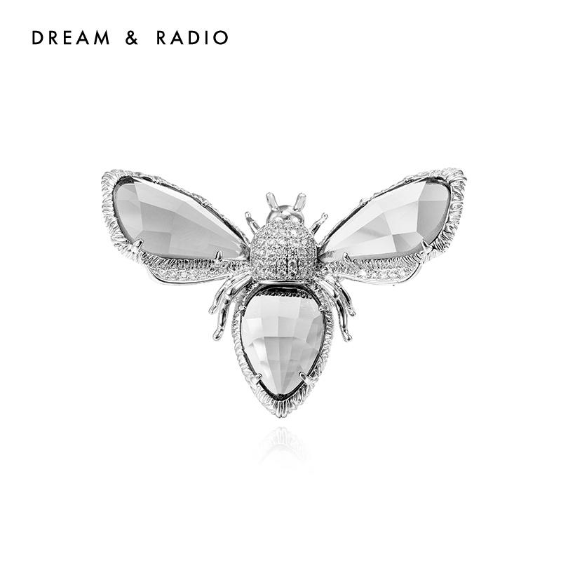 Dream&Radio皓石蜜蜂戒指立体感小众单戒2021年新款女指环个性开口戒指