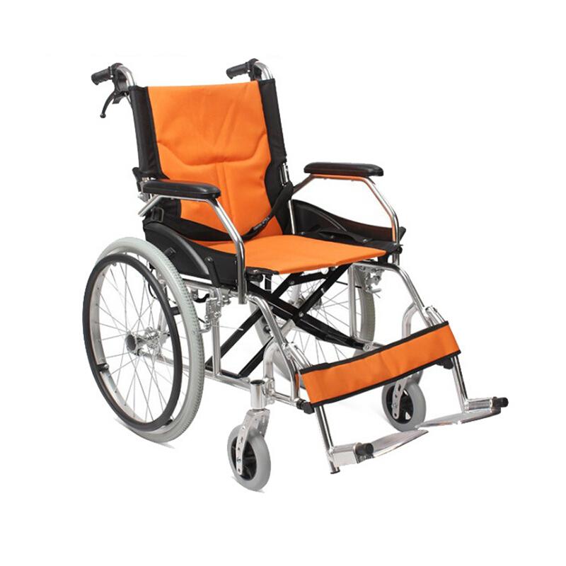 AUFU 佛山东方轮椅折叠轻便便携超轻老人及残疾人铝合金手动轮椅FS863LAJPF1