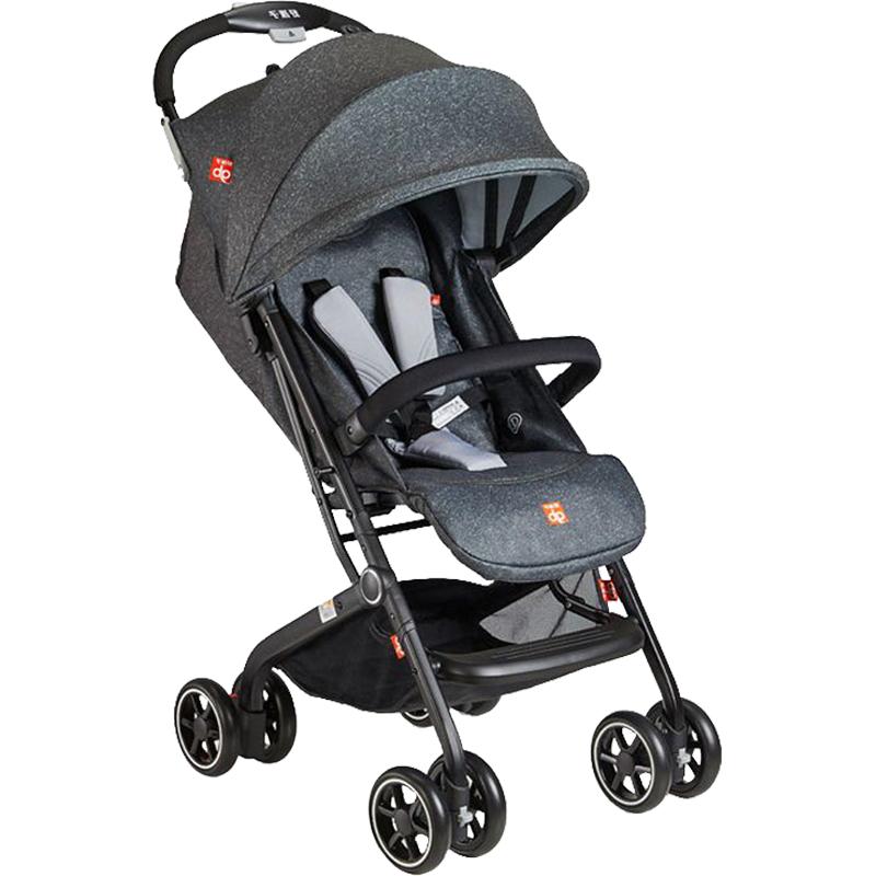 gb好孩子 婴儿推车 新生儿 宝宝 手推伞车 轻便折叠 可坐可躺 单向推行 深灰 D678-H-Q315GG