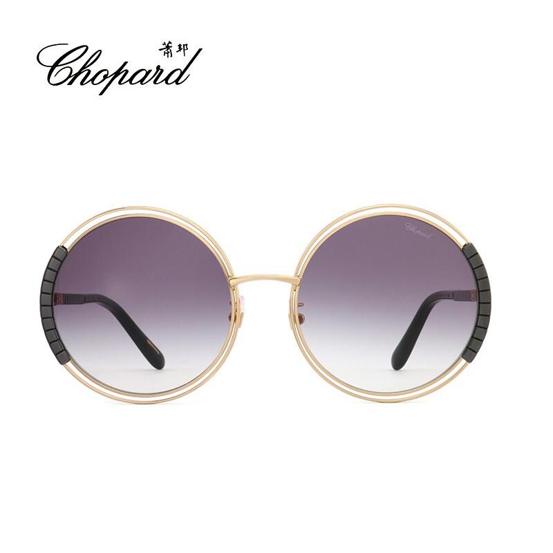 意大利Chopard/萧邦全框金属陶瓷大圆框经典款女士墨镜太阳眼镜SCHC79