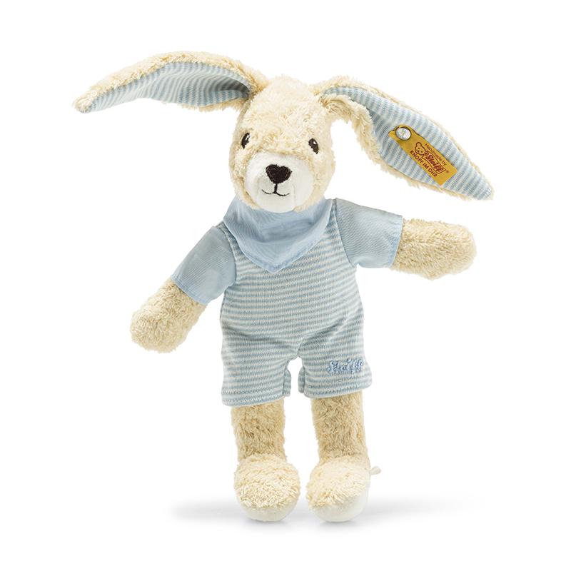 德国Steiff毛绒玩具Hoppel玩具兔蓝色衣服 20cm 4001505237508