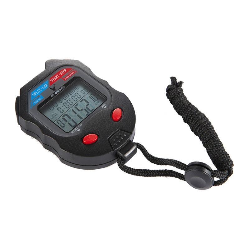 天福多功能電子秒表專業田徑比賽運動跑步專業計時器學生訓練記憶計時秒表三排60道PC560