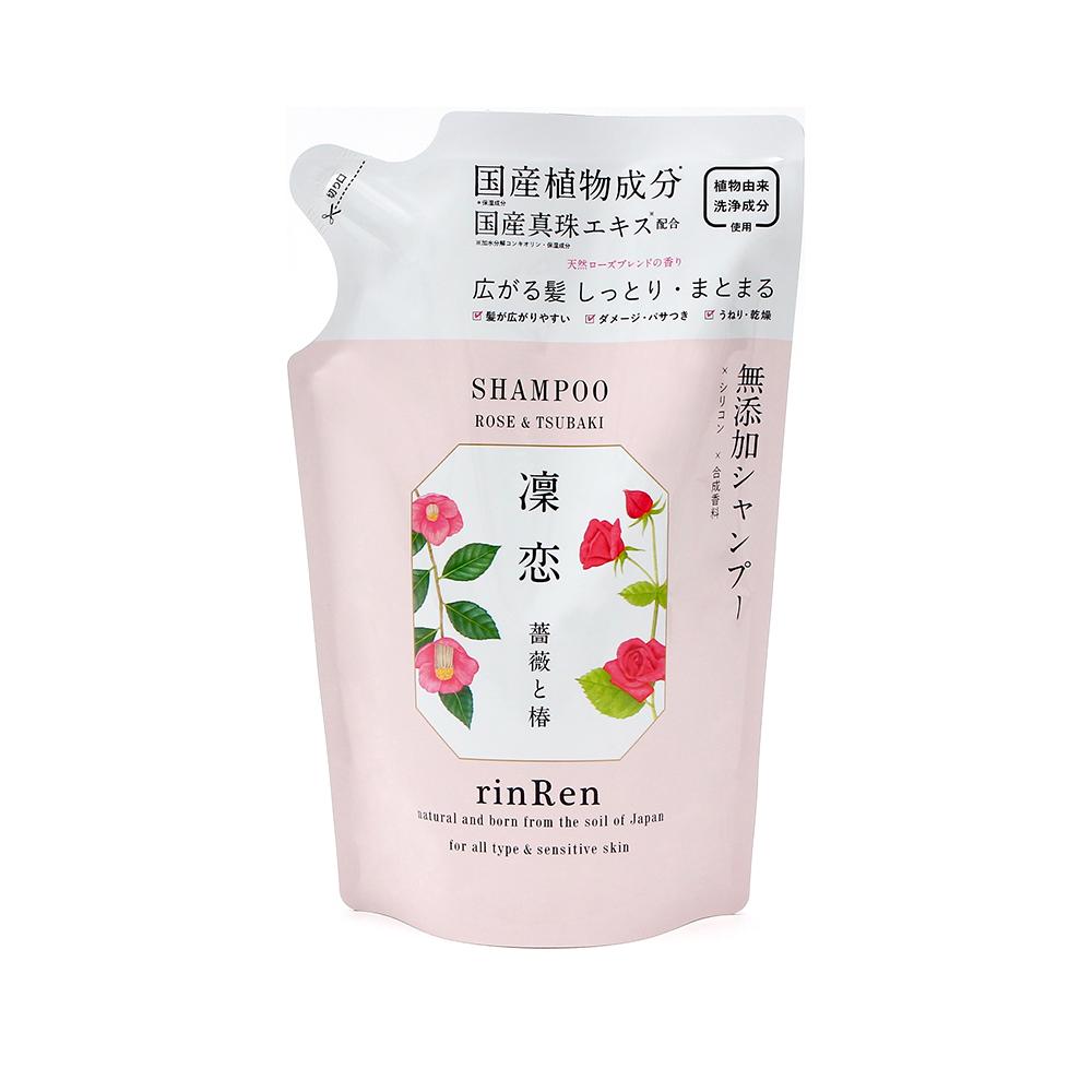 rinRen 凛恋 丰盈强韧抗氧化洗发水 玫瑰&山茶花 替换装 400ml