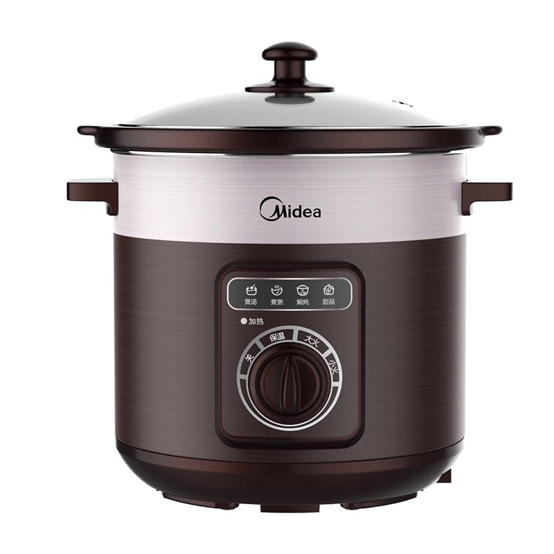 Midea/美的 TGH50C 家用5L大容量砂鍋電燉盅煮粥煲湯鍋 電燉鍋