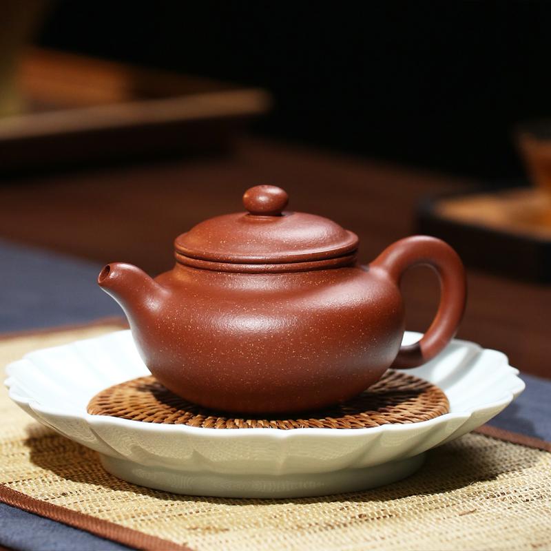 天金窑 宜兴紫砂壶金降坡泥范风云手工制作茶壶功夫茶具家用泡茶壶 仿古壶 230ml