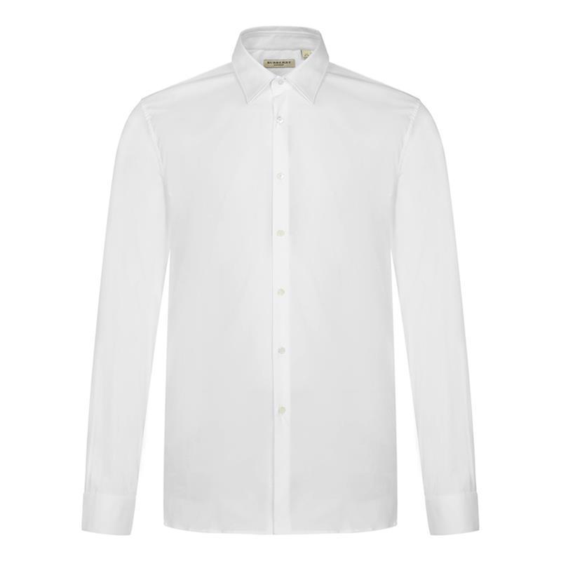 Burberry London/白色男士长袖衬衫