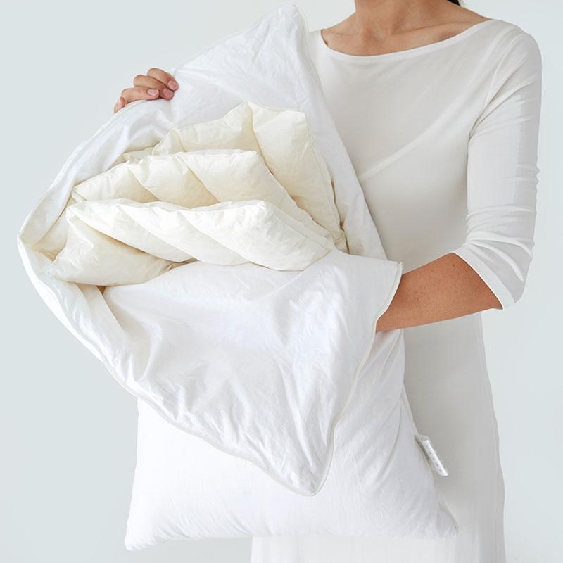LaSuntin可调节天然乳胶鹅绒枕头单人羽绒乳胶护颈枕芯舒适助睡眠