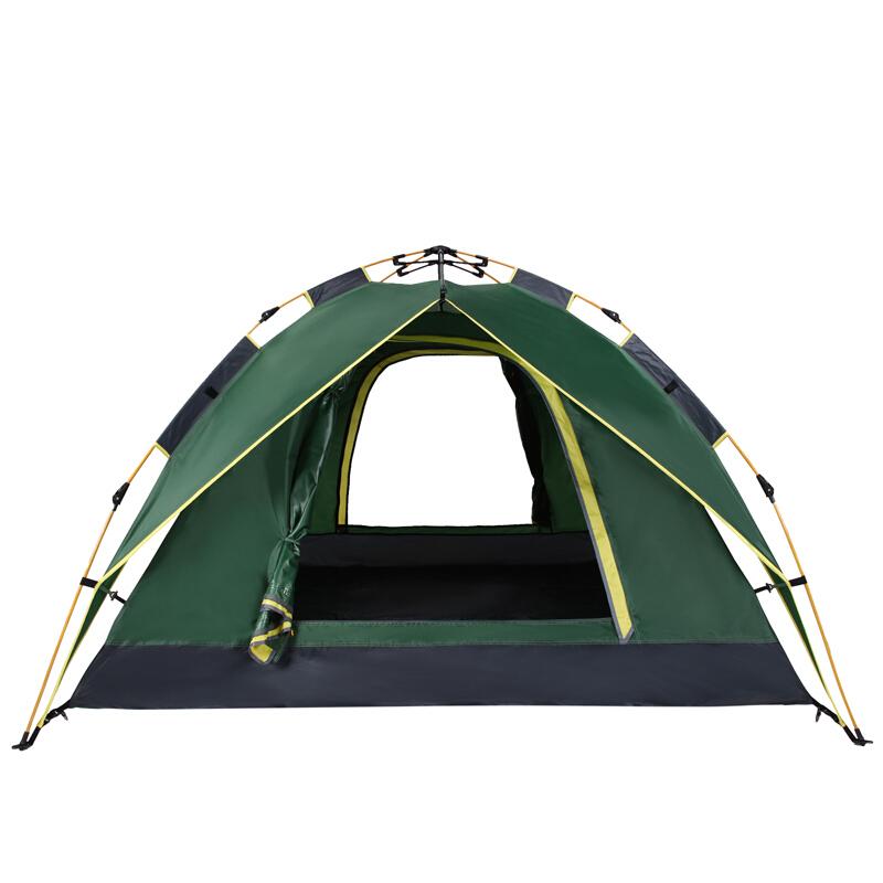 骆驼CAMEL 户外液压自动帐篷 野营防雨遮阳四季双层帐篷 A9S3H8111 军绿