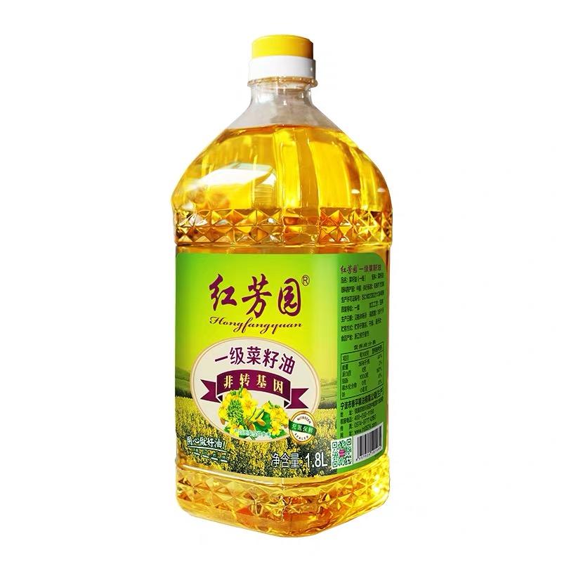 紅芳園非轉基因一級純正菜籽油 凈含量:1.8L