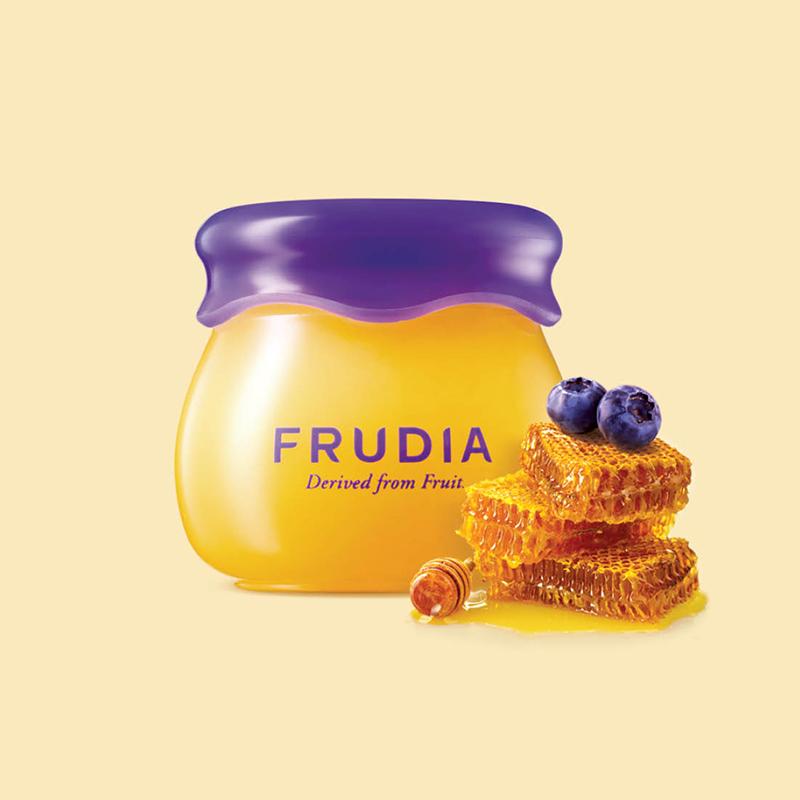 韩国进口Frudia小蜜罐润唇膏蓝莓蜂蜜唇膜保湿补水滋润嘴唇 蓝莓蜂蜜唇膏10ml