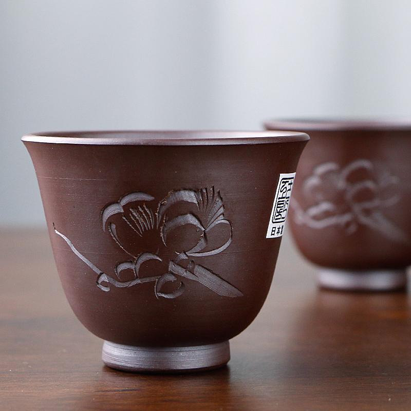 MinoYaki美濃燒日本進口陶瓷清酒杯一口杯小酒杯復古酒具白酒杯家用分酒器