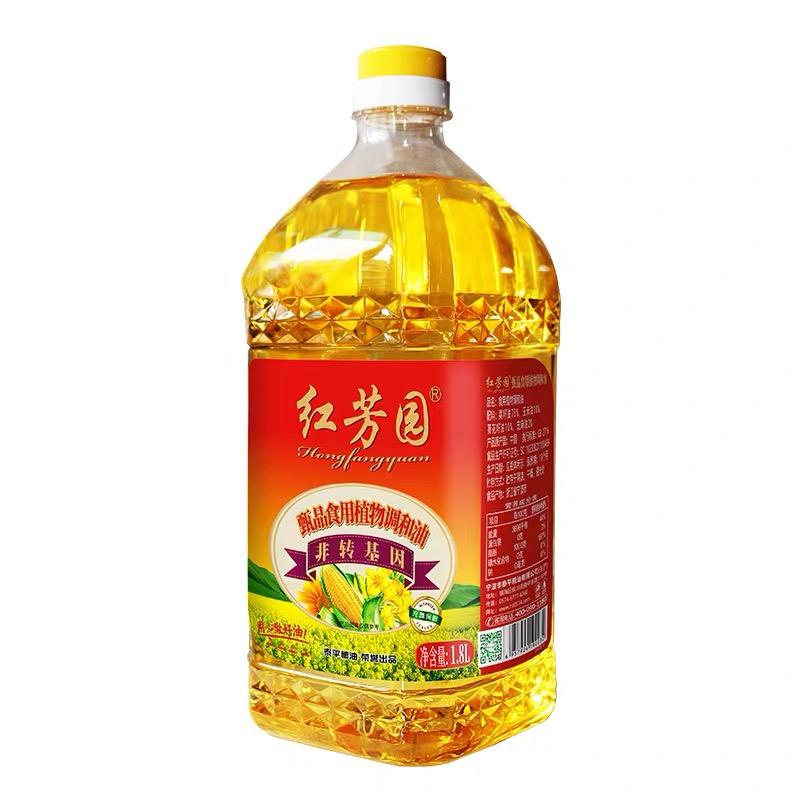 紅芳園甄品食用植物調和油 凈含量:1.8L