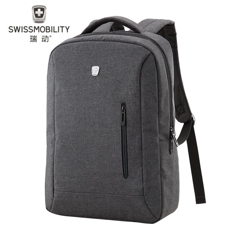 瑞动双肩包男女休闲旅行包电脑背包大中学生大容量休闲书包MT-5918 灰色