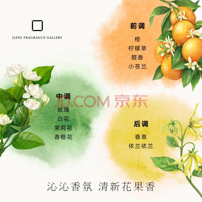 集致(JIZHI)香水 倾橙男士香水女士香水 淡香水8ml 清新淡香 柑橘花香调,集致(JIZHI)
