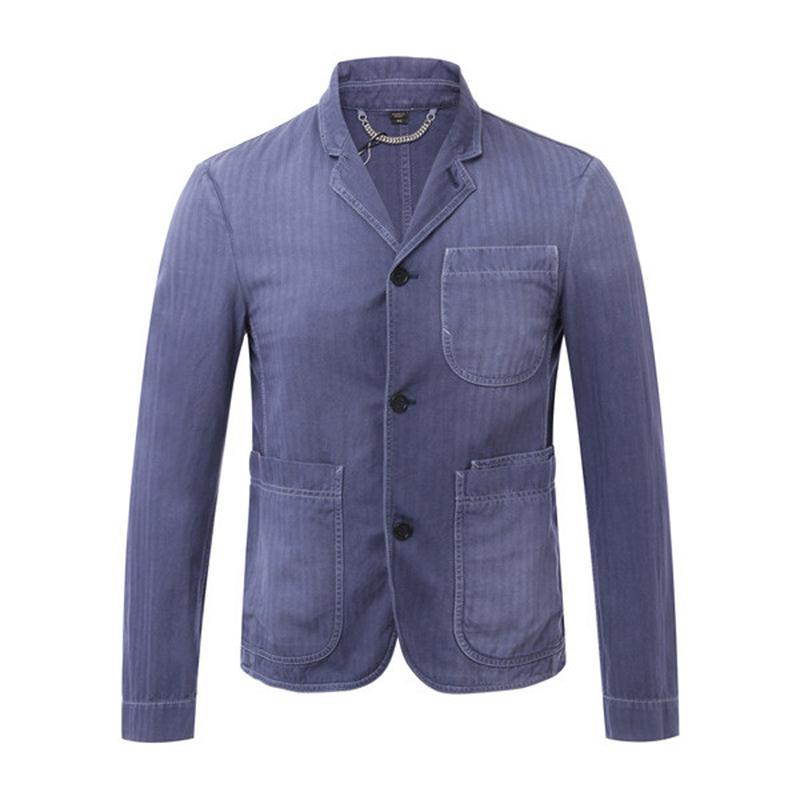 Burberry London,England(黑标)/牛仔蓝休闲款式男士西服