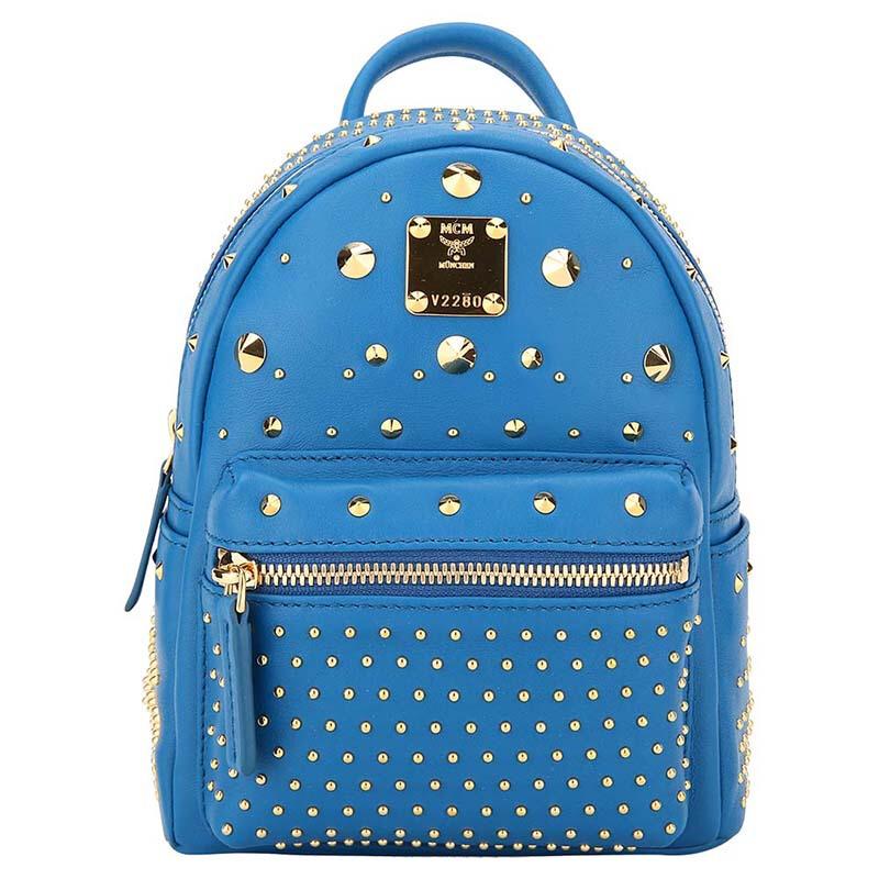 MCM 女士蓝色PVC双肩背包 MMK 6AVE71 LC001