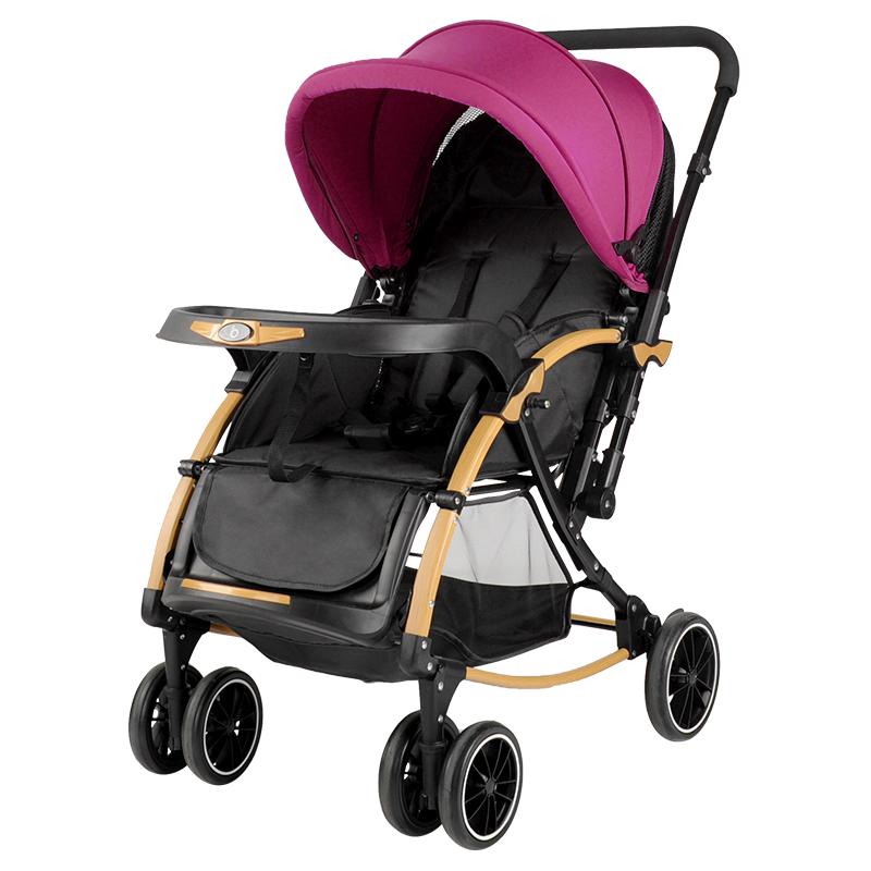 宝宝好 婴儿推车可坐可躺双向折叠婴儿车夏季冬季通用 可做摇椅 C3暗紫