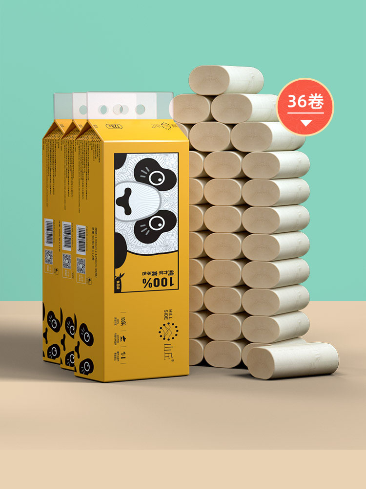 山丘QQ無芯卷紙衛生紙四層60g36卷