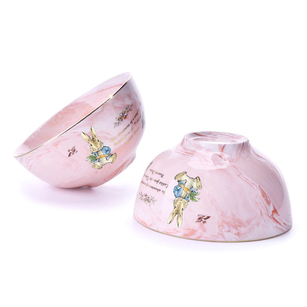 比得兔大理石纹4.5寸饭碗礼盒装(八件套)PR-T1056-1 兔子