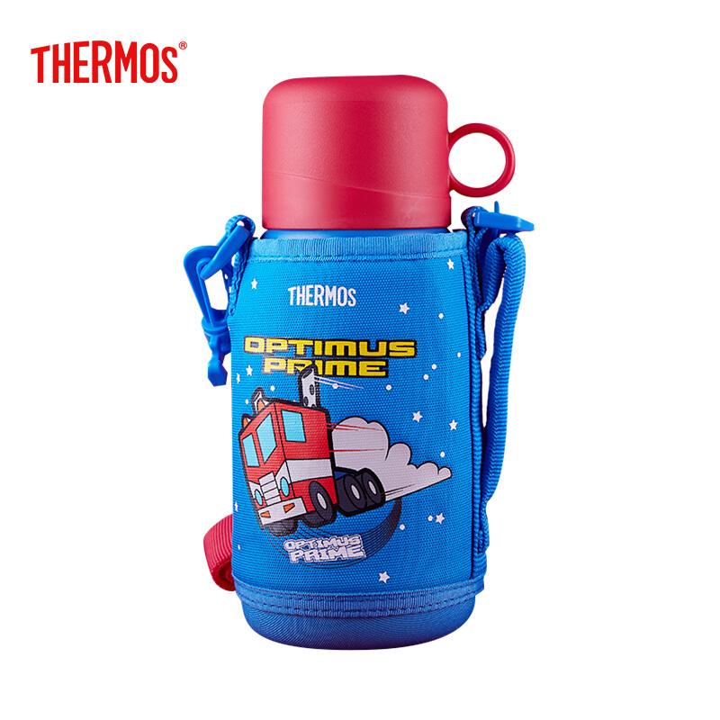 膳魔师THERMOS 儿童水杯保温杯不锈钢吸管杯两用大容量水壶IP系列 TCKA-550 TF002 550ml