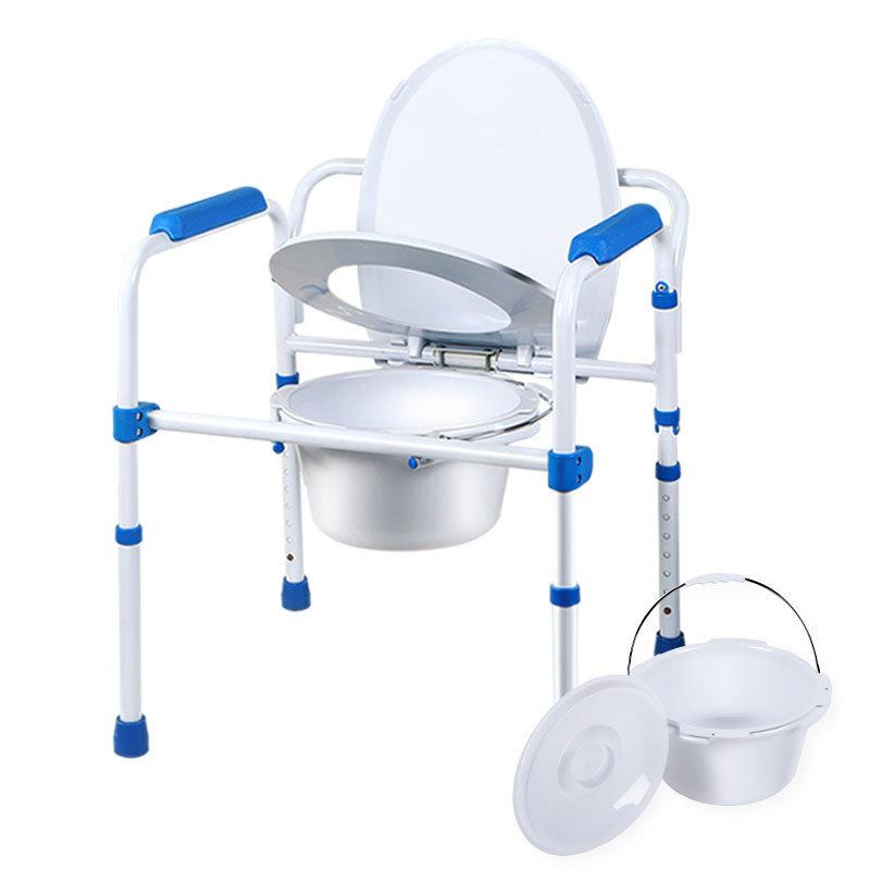 好步(HEPO)老人坐便椅孕婦座便器馬桶椅高度可調移動馬桶座廁椅白色坐便椅LQX-050004