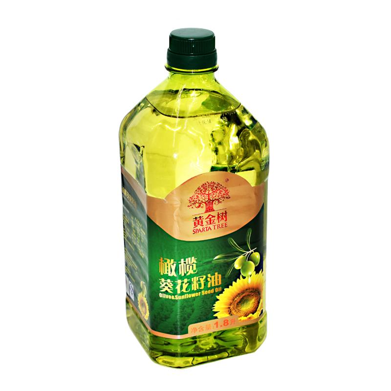 黄金树葵花橄榄食用调和油1800ml