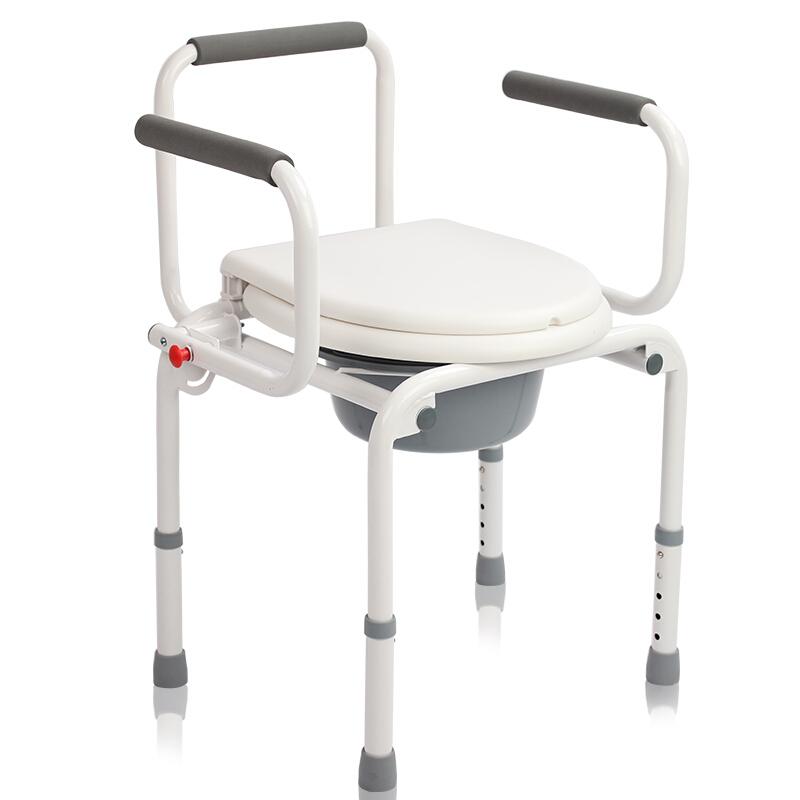 AUFU佛山东方坐便椅FS813 老人孕妇残疾人轻便座便器可调节坐厕椅洗澡椅医用移动马桶椅