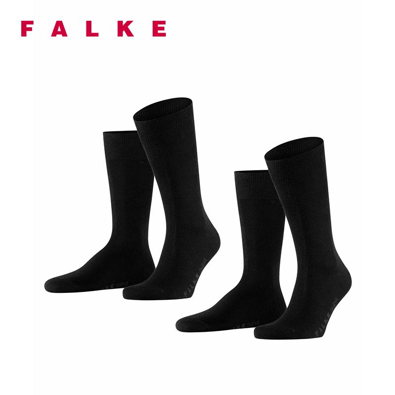 FALKE中筒棉袜Swing两双装透气薄款商务休闲男袜14633