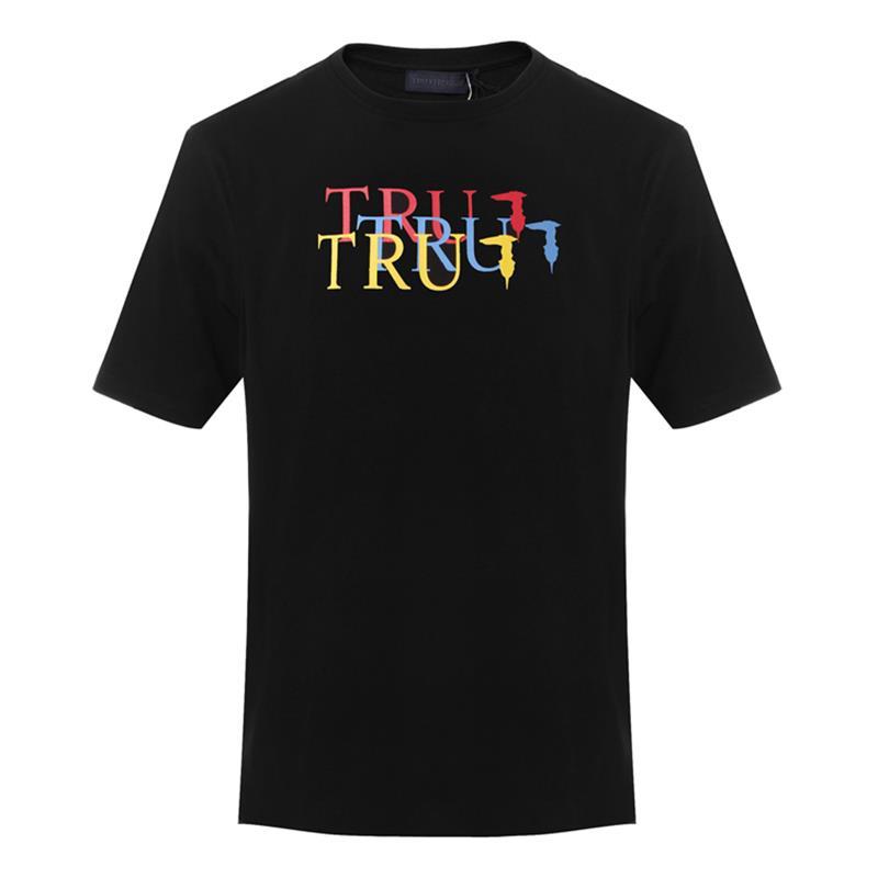 Trussardi/楚萨迪 圆领男士短袖T恤 32T00166 蓝色/黑色/深蓝色/白色