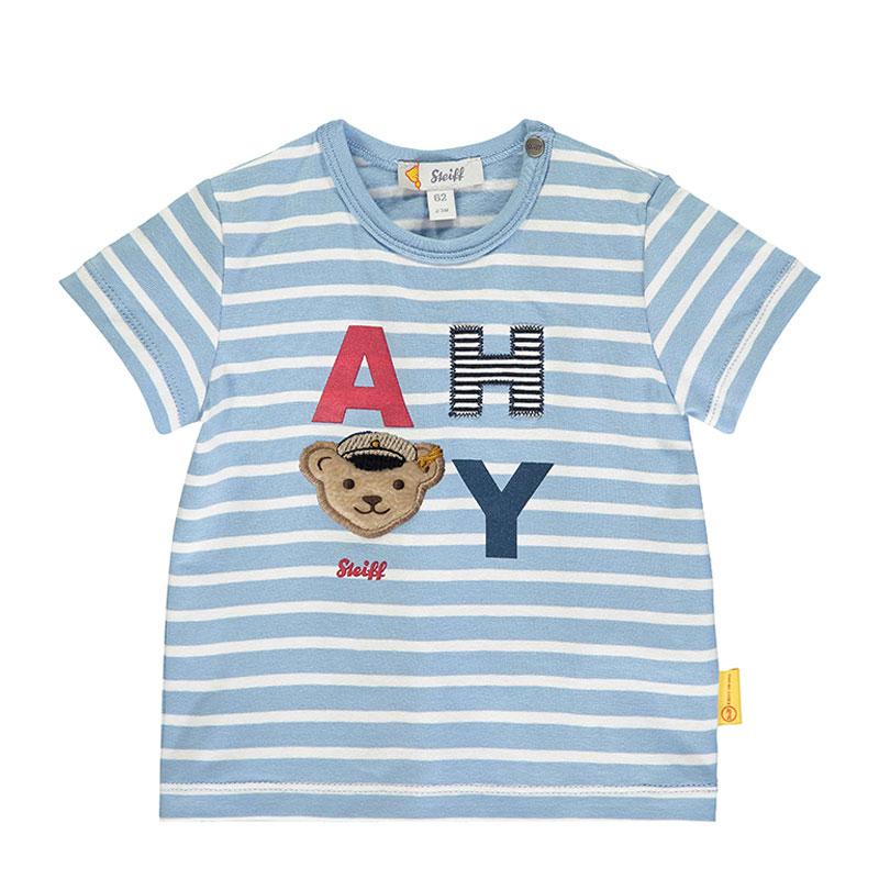 Steiff婴幼儿针织T恤 德国进口 字母短袖T恤 L002012138