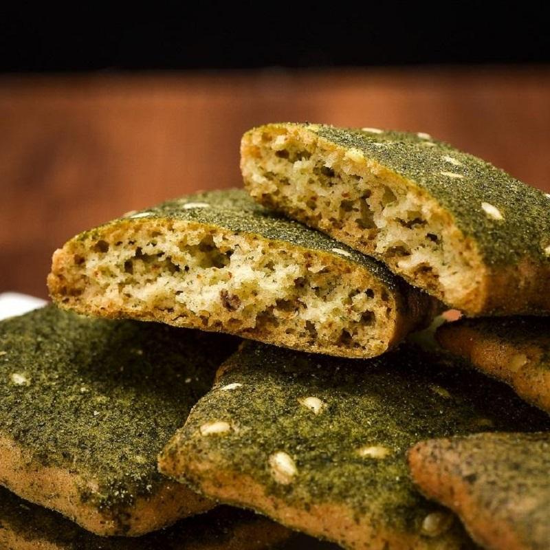 海苔饼 草湖食品 净素食品点心经典零食小吃 袋装160g*3包