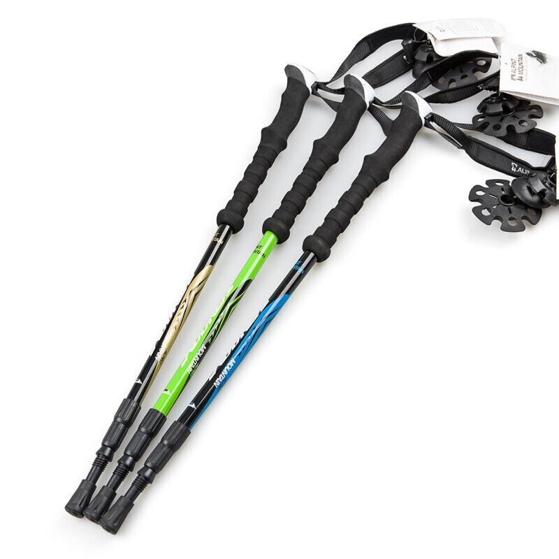 埃爾蒙特ALPINT MOUNTAIN 戶外登山杖 碳素碳纖維手杖三節徒步登山 610-202 藍色