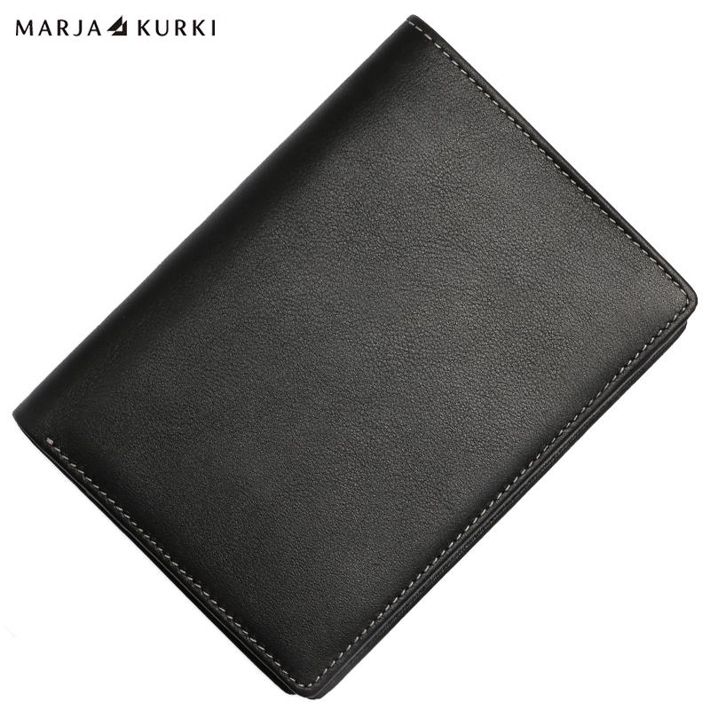 優質進口軟牛皮中款護照錢夾 7Z201399黑色