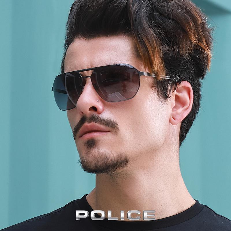 意大利POLICE男士春夏太阳眼镜时尚全框金属橡胶墨镜SPL968