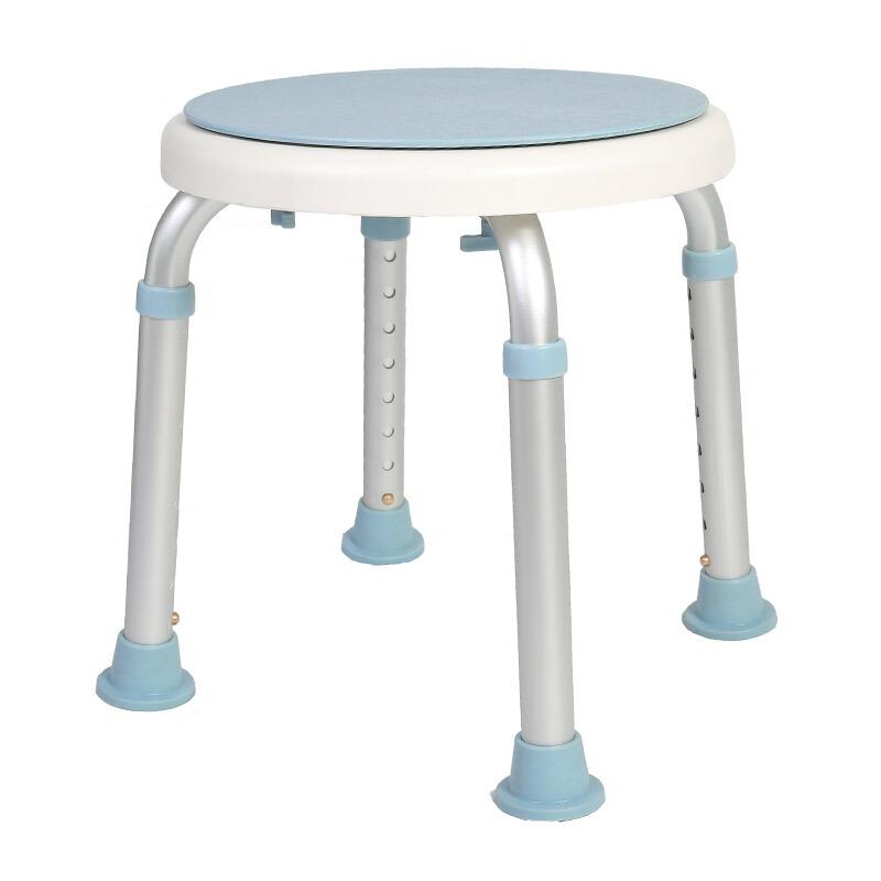 好步(HEPO)360度凳面可旋轉洗澡椅 淋浴凳 老人孕婦鋁合金沐浴凳