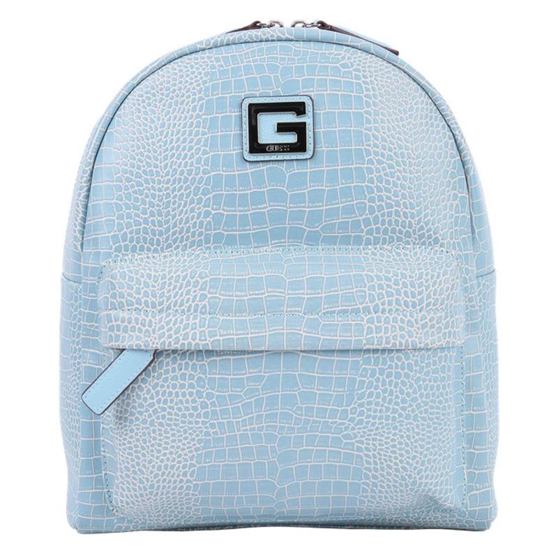 GUESS盖尔斯 新款女士鳄鱼纹双肩包背包